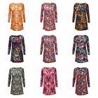 Ladies Fashion Bohemia Flower Dress Casual Long Sleeve Shirt Dresses 10 Lot