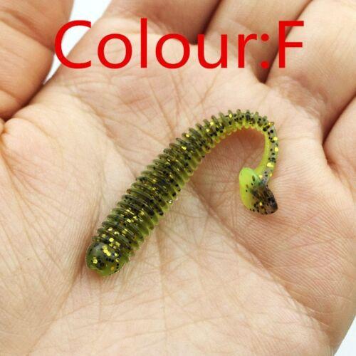 10pcs//lot Soft Bait 5.5cm 0.8g Artificial Worm Swimbaits Fishing Lure 8 Colors