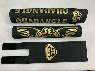QUADANGLE Pad Set frame handlebars bar Stem bmx Re Made Black gold