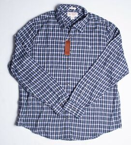 Penguin-Mens-L-S-Flannel-Shirt-Heritage-Slim-Fit-XXL-Stretch-Green-Blue-NWT