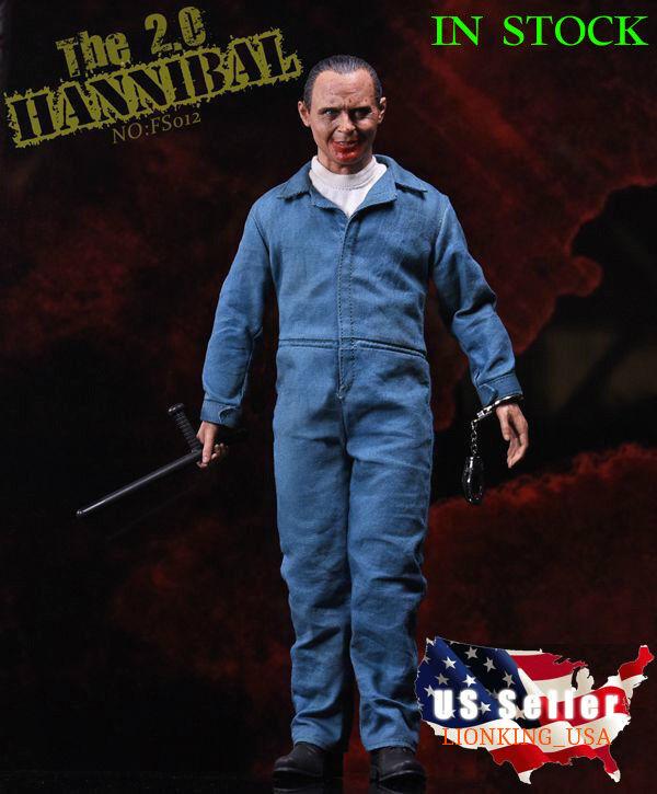 1/6 el silencio de los corderos Dr Hannibal ANTHONY HOPKINS Figura Set 2.0  USA