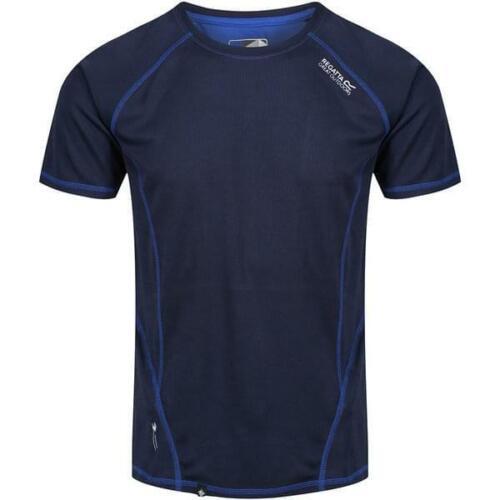 Mens REGATTA  RMT164 gym running breathable Team top T shirt Navy blue 2XL XXL