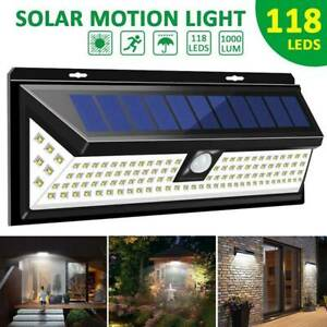 LITOM 24 LED Solar Power PIR Lights Motion Sensor Garden Light Wall Lamp Outdoor