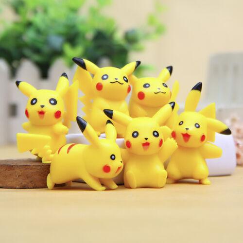 6Pcs Pocket Wizard Pikachu Poupée Décor Paysage DIY Gâteau Fenêtre Jouet Cadeau