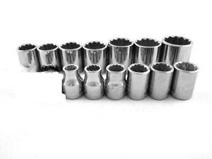CRAFTSMAN HAND TOOLS 15pc LOT 3//8 Dr 12 pt METRIC MM ratchet wrench socket set