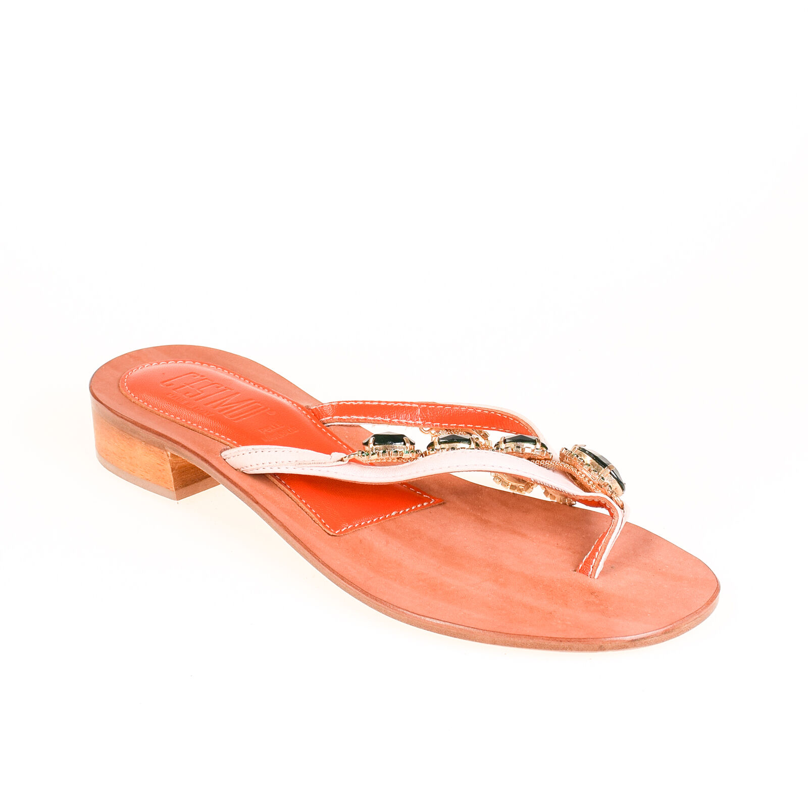 Último gran descuento C'est Moi Damen Sandale Leder Orange Rosa Grün