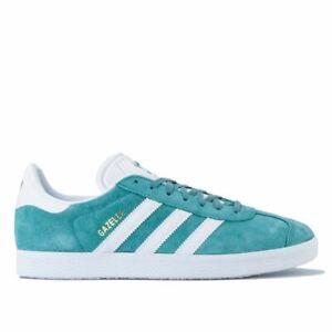 Men-039-s-adidas-Originals-Gazelle-Lacci-Imbottite-Scarpe-Da-Ginnastica-in-Verde