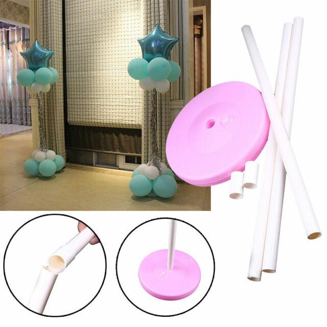 1//2//4 Set PVC Balloon Column Base Stand Display Best 3 Colors Party Decor Kit