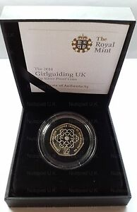 2010-Silver-Proof-Coin-Girl-Guiding-UK-Fifty-Pence-Commemorative-50p