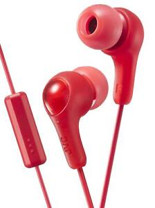JVC Gumy Plus Red In-Ear Headphones with Microphone and Remote