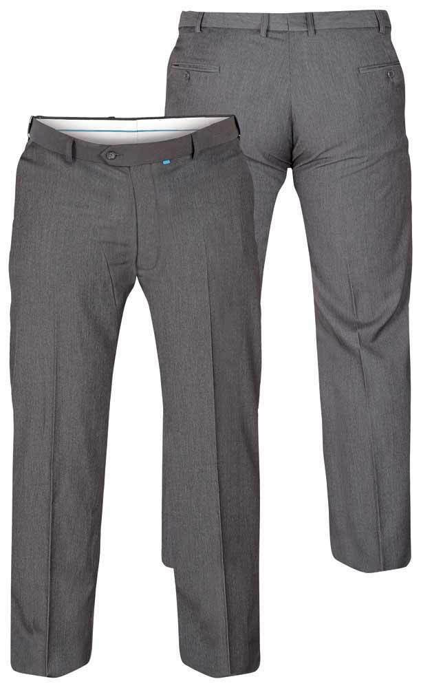 D555 Supreme Flexi Waist Trousers Grey BIG Waist 40-60 inch, Leg 27-34 inch
