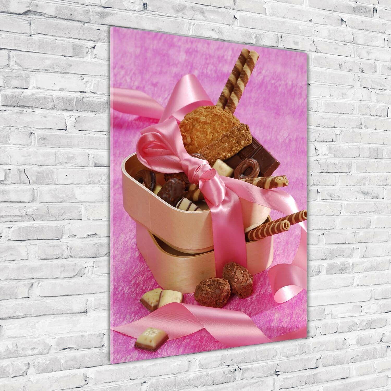 Wand-Bild Kunstdruck aus Acryl-Glas Hochformat 70x100 Süßigkeiten