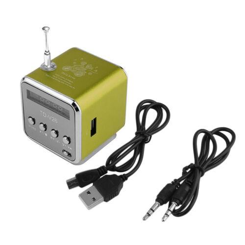 Mini SD TF Card Micro USB Stereo Super Bass Speaker MP3//4 Music Player FM Radio