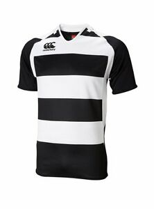 (Youth Small Age 6) Canterbury Junior Boys Kids Hooped Challenge Rugby Jersey