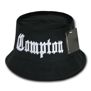 Details about Black Compton Vintage Embroidered Hip Hop Fisherman s Fishing Bucket  Hat Hats 7b4b393f8c8