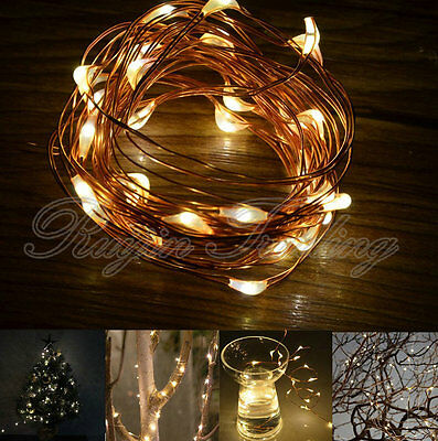 20/30/40/50 LED Christmas Wedding Party Festival Copper Wire String Fairy Lights