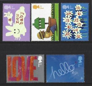 Grossbritannien-2002-Gruesse-Briefmarken-Anlaesse-Set-Mit-5-Nicht-Gefasst-Mint-MNH