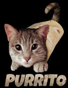 Purrito Cat Shirt Funny Cat Shirt Cat In Burrito Kitten Small 5x Ebay