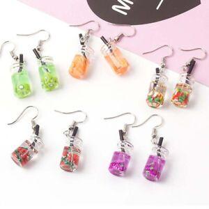 Women-Girls-Fruit-Juice-Cup-Drop-Earrings-Ear-Hook-Party-Fashion-Jewelry