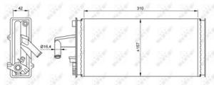 NRF (54259) Wärmetauscher, Innenraumheizung für IVECO