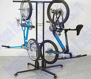 Image is loading Movable-Mobile-Bike-Storage-Rack-Swivel-Casters-Stand-  sc 1 st  eBay & Movable Mobile Bike Storage Rack Swivel Casters Stand Holder 6 ...