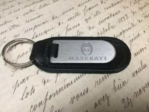 Maserati Schlüsselanhänger Blind Aufgeraut auf Leder Quattroporte Levante