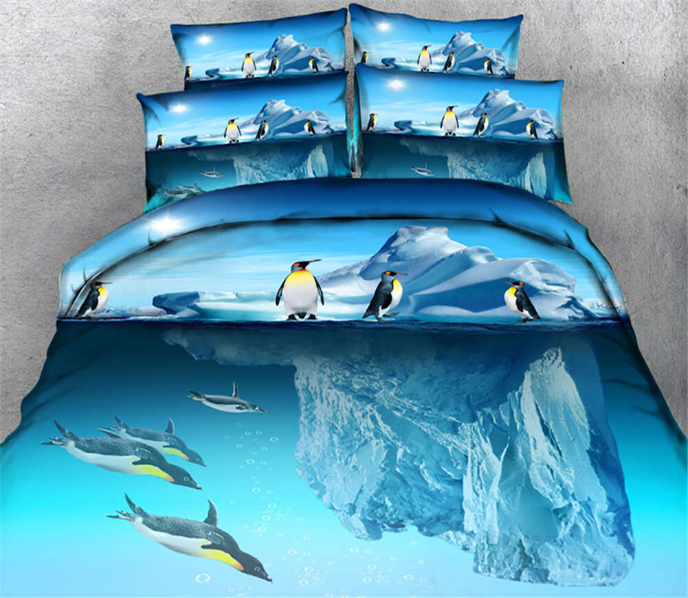 Awkward Penguin 3D Printing Duvet Quilt Doona Covers Pillow Case Bedding Sets