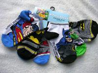 batman-superman. Justice League. Boys 6 Prs. Socks Size 2t- 4t...nwt.