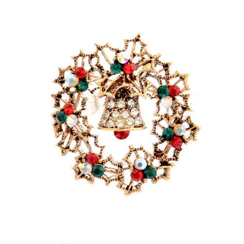 Crystal Christmas Tree Garland Walking Stick Bell Creative Gift Brooch Ornament