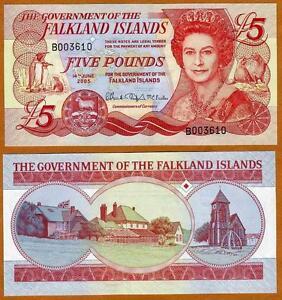 Falkland-Islands-5-pounds-2005-QEII-Pick-17-CV-48-UNC