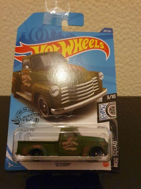 Hot Wheels 2020 '52 Chevy *201/250 HW Rod Squad *3/10 GHG01 Green Long Card