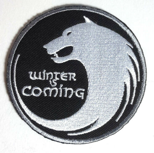 """Game of Thrones- STARK House Winter Is Coming Wolf 3"""" Patch- FREE S&H (GTPA-013)"""