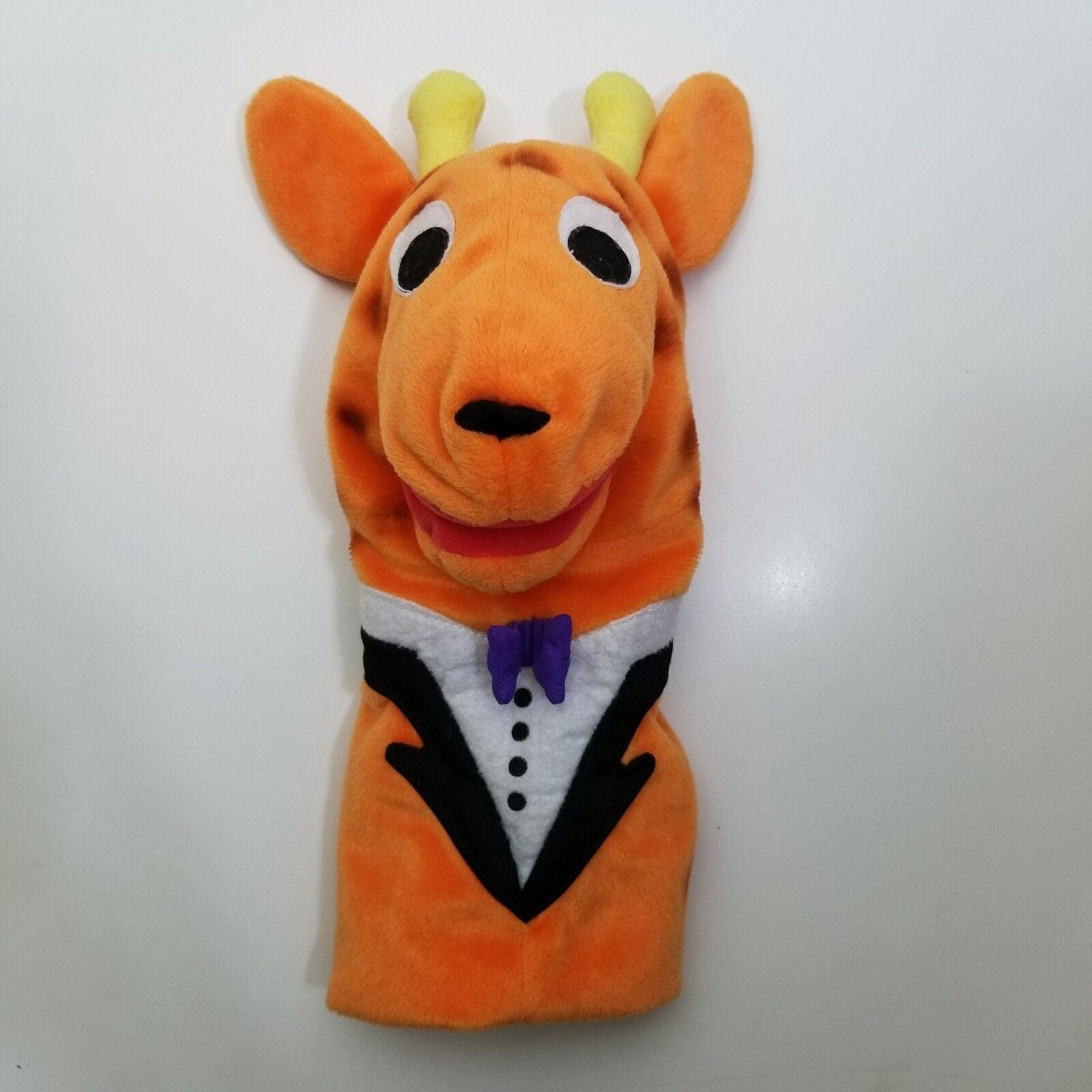 Baby Einstein Giraffe Hand Puppet Plush Baby Beethoven Rare