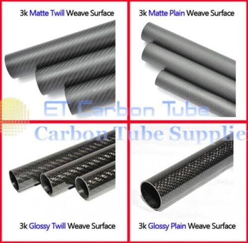 2pc x 3k Carbon Fiber Tube10mm 11mm 12 13 14mm 15mm 16 17mm 18 19mm 20mm x500CA
