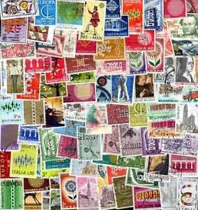 """EUROPA CEPT collections de 25 à 1000 timbres différents - France - Commentaires du vendeur : """"lots de timbres différents oblitérés"""" - France"""