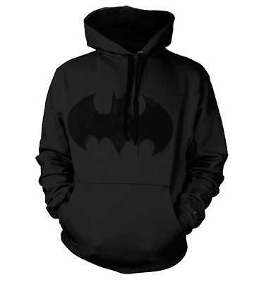 Officially Licensed Batman Distressed Logo Hoodie S-XXL Sizes
