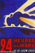 1955 - 24 Hours Le Mans France Automobile Race Car Advertisement Vintage Poster