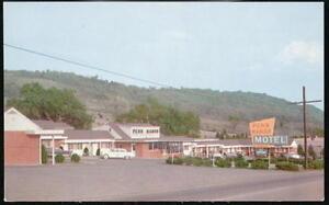 BEDFORD-PA-Penn-Manor-Motel-Vintage-1950-039-s-Cars-Postcard-Old-Roadside-Penna-PC