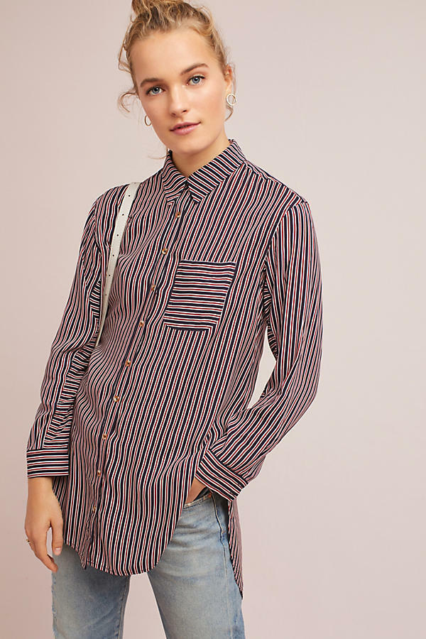 NEW Anthropologie Adelaide Poplin Shirt  Size S  new SMALL