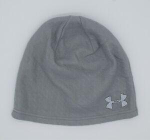 New Under Armour Mens UA ColdGear Infrared Emboss Beanie Reflective Run Hat OSFM
