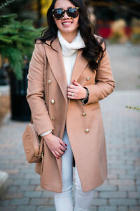 Statement Breasted Fit Pea Jacket Camel Coat Winter Slim To Topshop 4 Double 16 XqBx5Yttw
