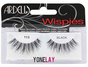 f6b5424279f Lot 4 Pairs ARDELL 113 Wispies False Eyelashes Fake Eye Lashes Black ...