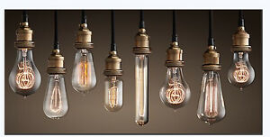 Filament Light Bulb Vintage Antique Retro Industrial Style Edison Ferrowatt  eBay
