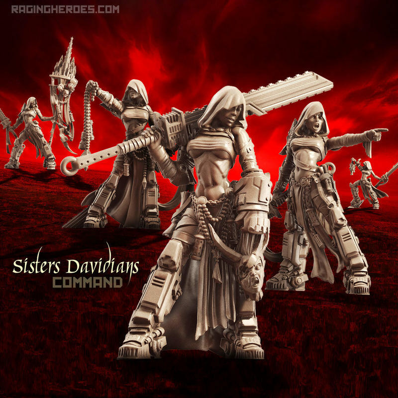 Raging Heroes Sisters of the Orphanage -  Davidians Command - NEW