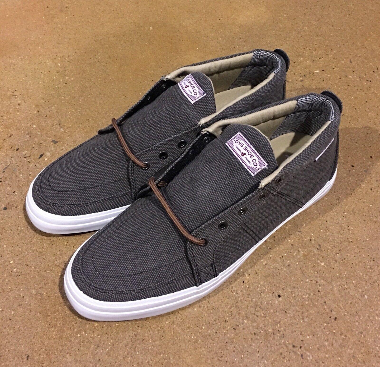 DVS Rivera Size 11 Charcoal Canvas Militia Havoc BMX DC Skate Shoes Sneakers