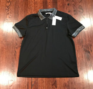 Details about NWT$95 Mens Vince Camuto Performance Black Polo Shirt XL