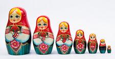 Matrioska russa da 7 pezzi matriosca matriosche babooshka bambole russe di legno