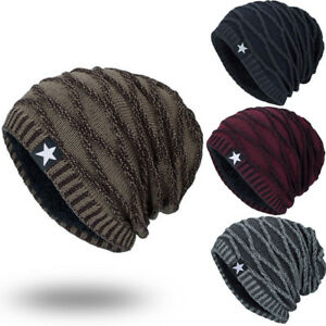 d497378160c Men Women Warm Winter Knit Ski Beanie Skull Slouchy Baggy Cap Hat ...