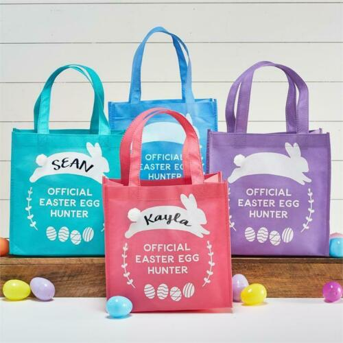 Easter Egg Hunt Tote Bags Set of 4