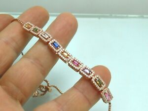 Turkish-Handmade-Jewelry-925-Sterling-Silver-Sapphire-Stone-Women-Bracelet